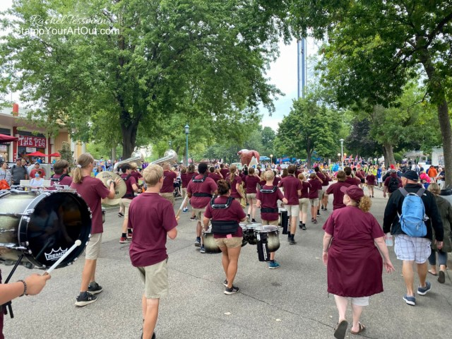 Anoka High School Marching Band State Fair Performance Day: August 26, 2021 - Stampin' Up!® - Stamp Your Art Out! www.stampyourartout.com