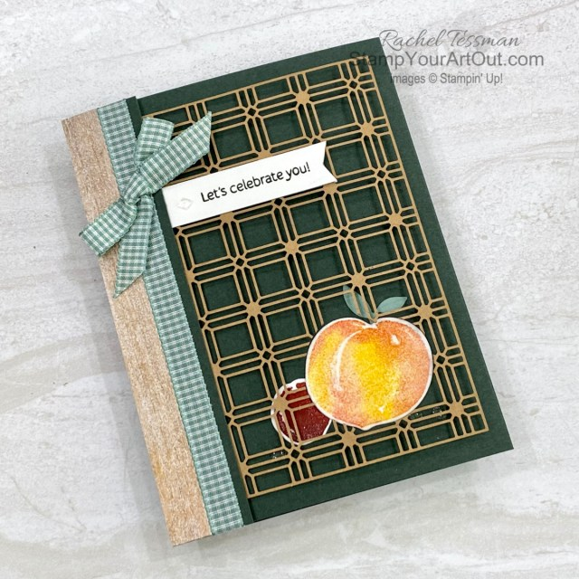 All Star Tutorial Blog Hop September 2021 featuring the You're a Peach Suite of products from Stampin' Up!'s 2021-22 Annual Catalog. Click here to see how to make this tri-fold card featuring the Sweet As a Peach Stamp Set, the Peach Dies, a Paper Lattice, the In Good Taste Designer Series Paper and Snowy White Specialty Paper, the Clear Epoxy Essentials, and Daubers for creative inking. Access measurements, a how-to video with tips and tricks, other close-up photos, and links to all the products I used. Learn how to grab up the awesome exclusive tutorial bundle. AND see other great ideas with this suite shared by the eleven others in our tutorial group! - Stampin' Up!® - Stamp Your Art Out! www.stampyourartout.com