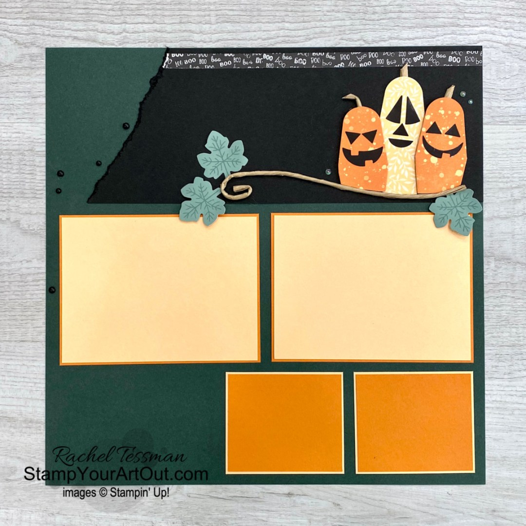 """I'm excited to share with you some alternate project ideas I came up with using the contents of the September 2021 Haunts & Harvest Paper Pumpkin Kit: Elmo & Oscar the Grouch boxes, a chocolate dipped strawberry box, a simple flower box, a fancy pumpkin card, a simple monochromatic """"strip"""" card, and a Halloween-themed 12x12 scrapbook page layout! Click here for photos of all these projects, a video with directions, measurements and tips, and a complete product list linked to my online store. - Stampin' Up!® - Stamp Your Art Out! www.stampyourartout.com"""