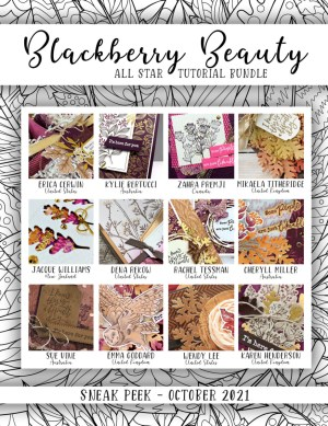 Here are the Blackberry Beauty Suite All Star Tutorial Bundle Peeks. Place an order in the month of October 2021 and get this bundle of 12 fabulous paper crafting project tutorials for free! Or purchase it for just $15. - Stampin' Up!® - Stamp Your Art Out! www.stampyourartout.com