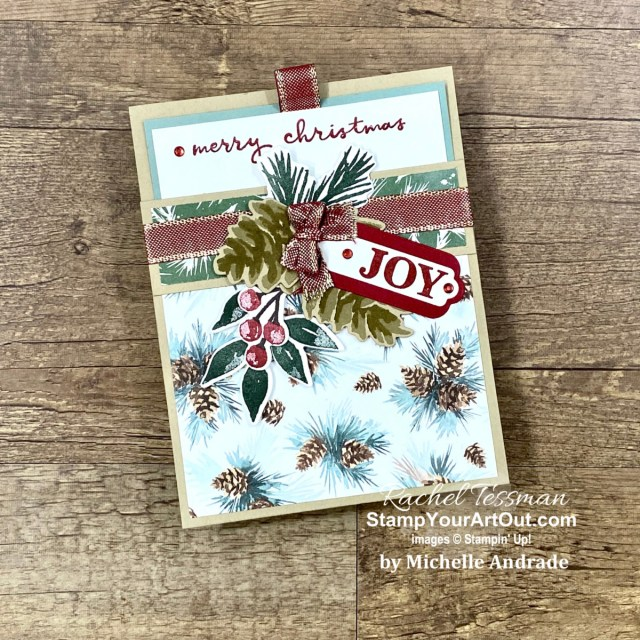 Click here to see how this card from Michelle Andrade influenced a card design I created with some new products being released November 2, 2021: the Eden's Garden Stamp Set, the Eden Dies, and the Ever Eden Designer Paper. Access measurements, more photos, a how-to video with directions, and links to the products I used. - Stampin' Up!® - Stamp Your Art Out! www.stampyourartout.com