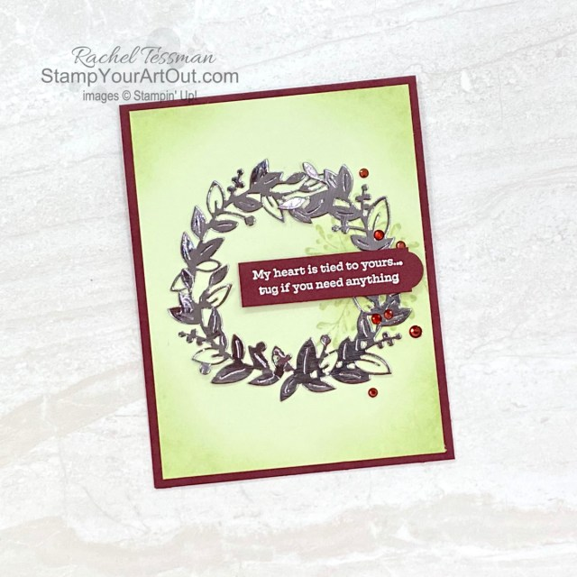 Click here to see a couple cards I created with some new products being released November 2, 2021: the Eden's Garden Stamp Set, the Eden Dies, and the Ever Eden Designer Paper. Access measurements, more photos, a how-to video with directions, and links to the products I used. - Stampin' Up!® - Stamp Your Art Out! www.stampyourartout.com
