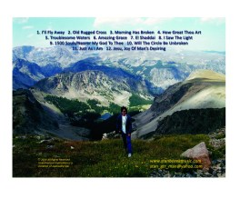 CD back cover with song list
