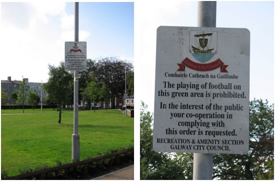 """Stan Carey - Galway City Council sign on """"the playing of football"""""""