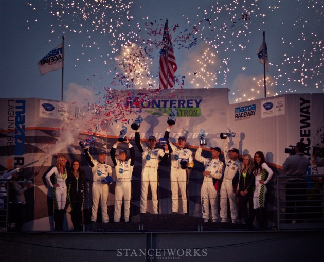 BMW ALMS podium