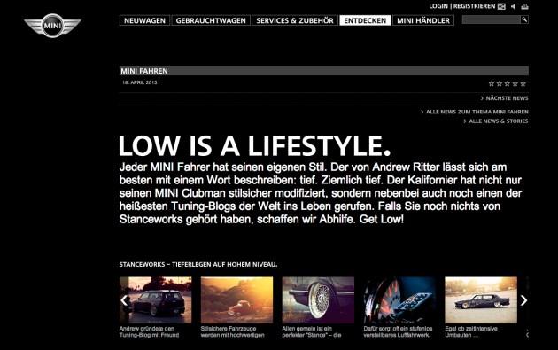 MINI Germany StanceWorks article