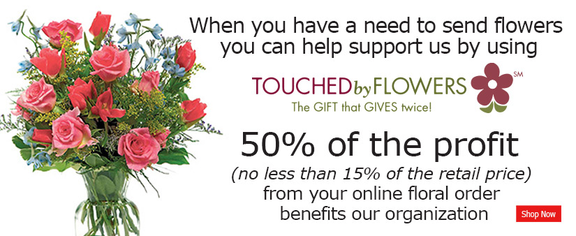 shop at touched by flowers to benefit stand among friends