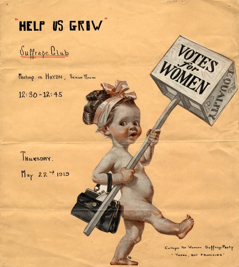 """""""Votes for Women"""" poster, 1919"""
