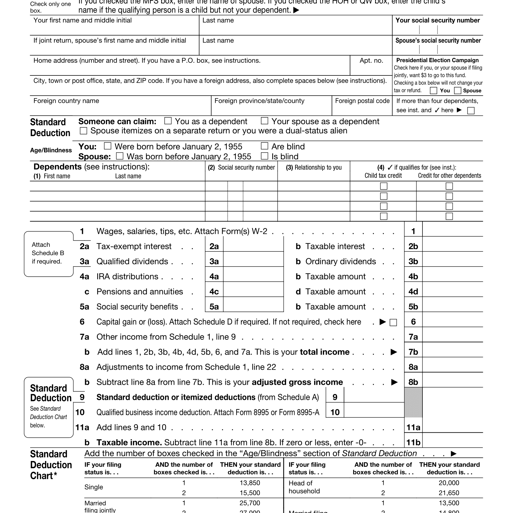 Standard Deduction For Over 65