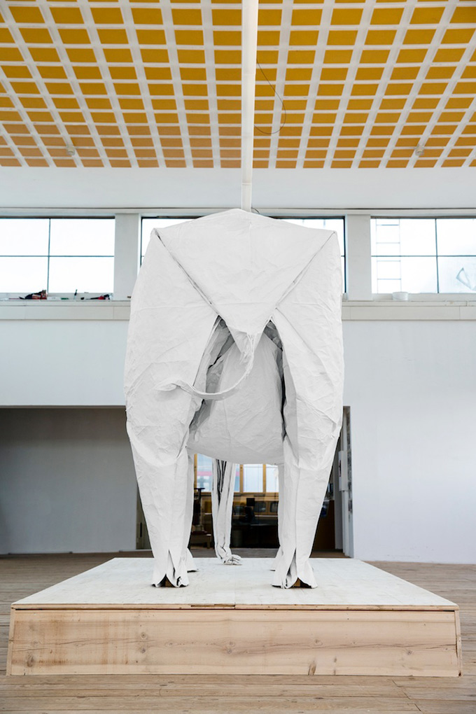 White-Elephant-A-LifeSize-Origami-Elephant-Folded-From-a-Single-Giant-Piece-of-5