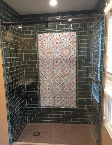 how to incorporate patterned tile into