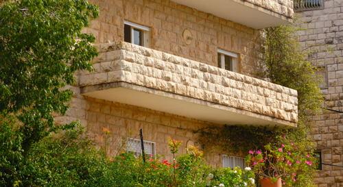 Our balcony in Rechavia.