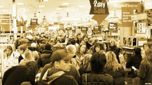 Black Friday Shopping Scene