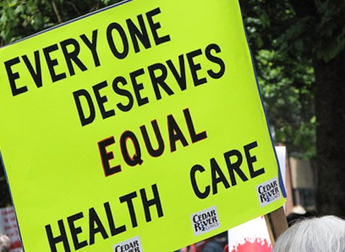 Everyone Deserves Equal Healthcare Poster