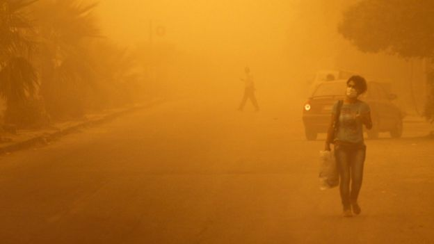 Reuters photo of dust storm. Homs, Syria. September 8, 2015