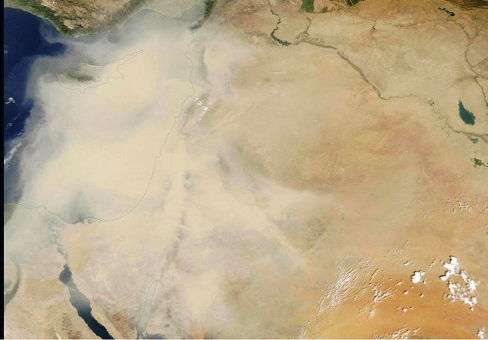 Asia Minor under a Cloud of Dust