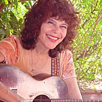 Carolyn Hyde with guitar