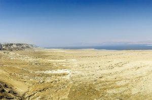 Dead Sea landscape as seen from Masada