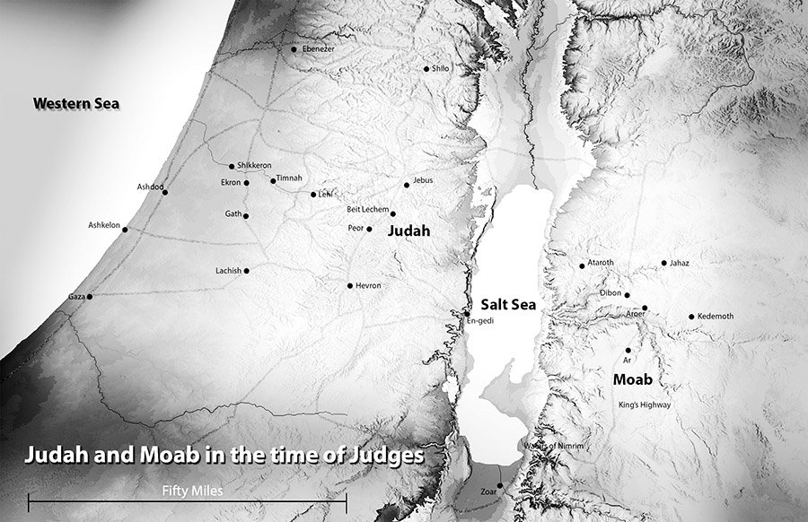 Anceint Israel (Map) in time of Judges