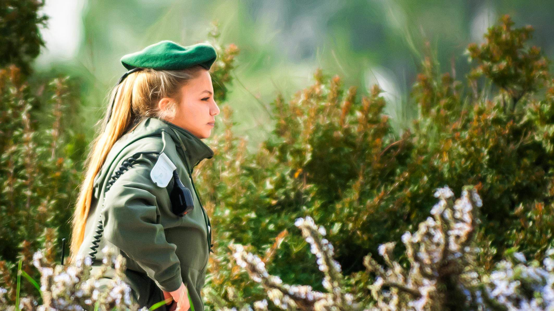Guard Duty at Jerusalem Marathon