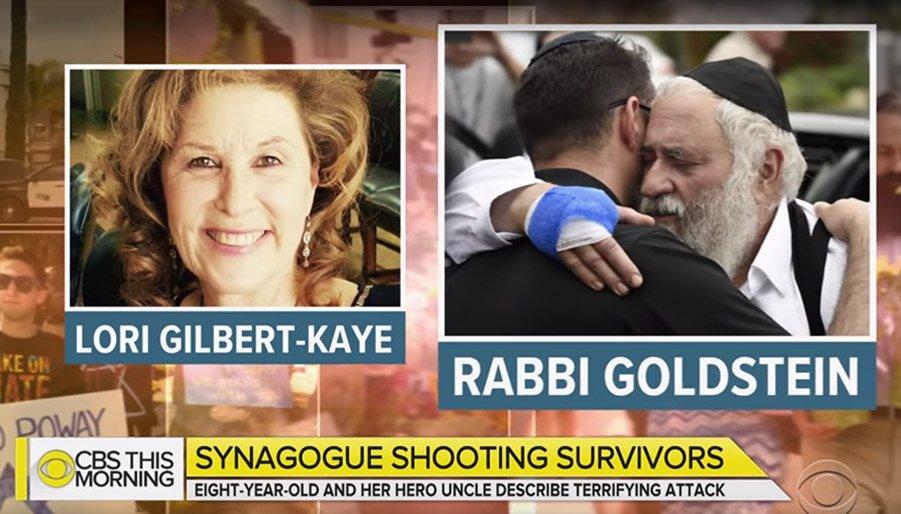 Lori Kaye and Rabbi Israel Goldstein