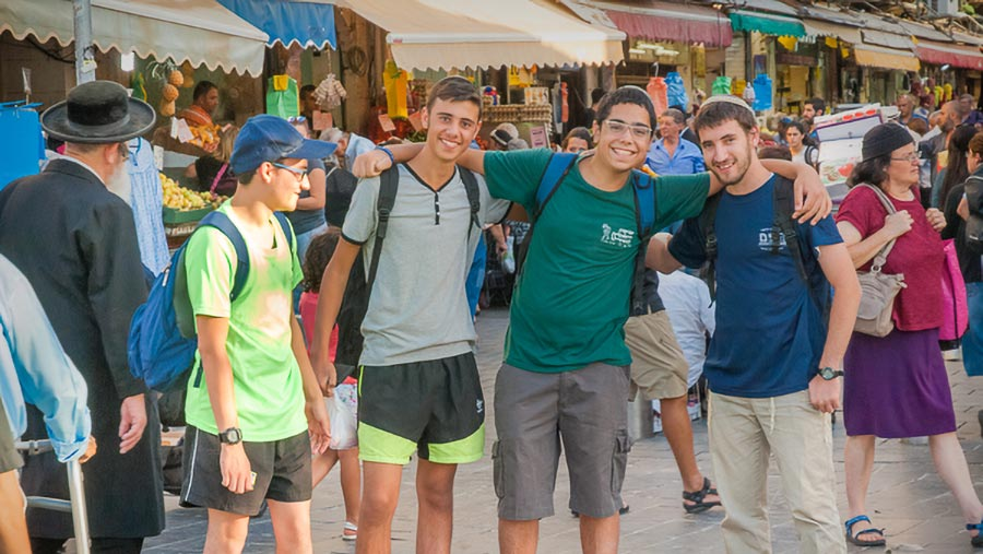 Israeli Youths at Machane Yehuda Market, Jerusalem
