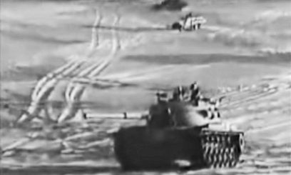 Israeli tanks on the Sinai during 1973 Yom Kippur War