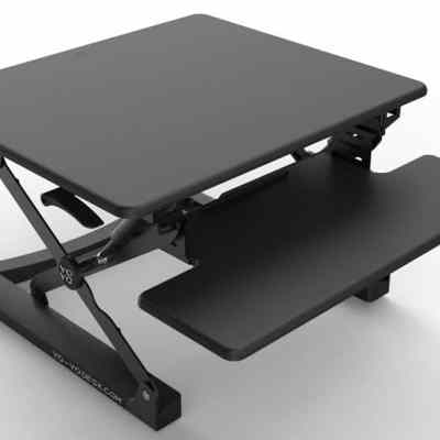 black yo-yo Mini standing desk full height