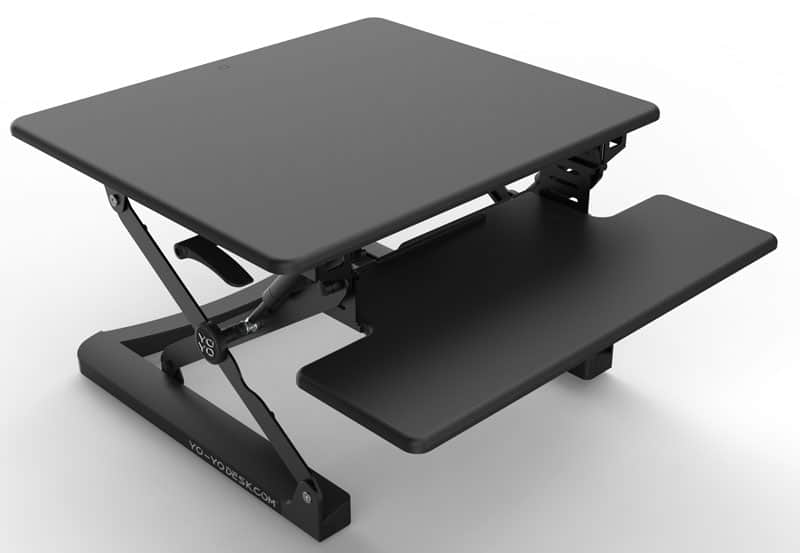 black yo-yo Mini standing desk full height