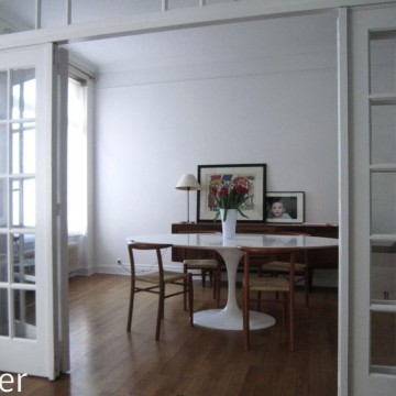 03 standing renovation brussels francesca puccio  parisian apartement dining after