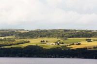Photo of Standing Stone Vineyards from across Seneca Lake