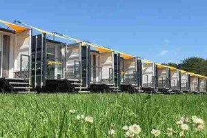 Temporary accommodation provided by Caboose and Co