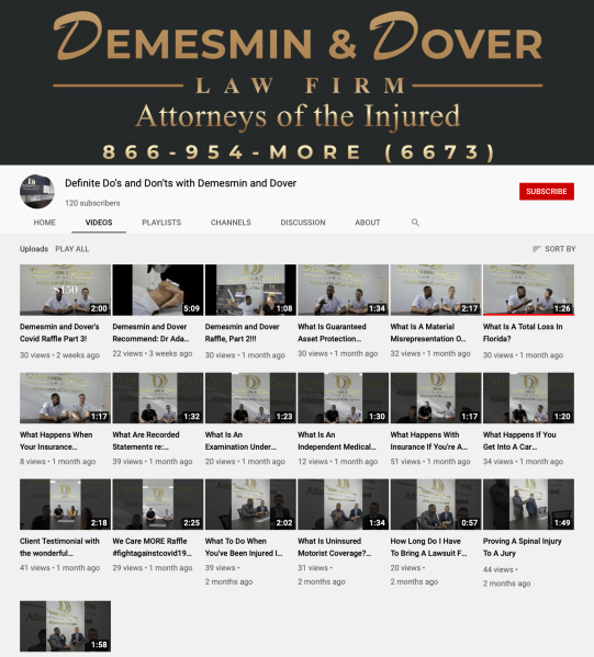 Demesmin and Dover YoutTube