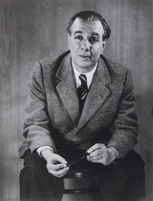 Borges in 1951, photo by Grete Stern