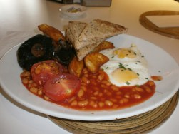 Full veggie breakfast, also in Heathrow. Great as a de-stressant.