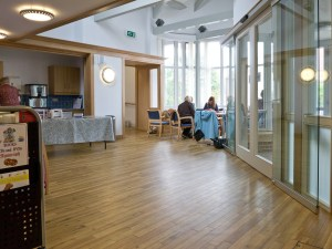 The reception area in use, St. Andrew's Monkseaton