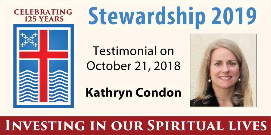 Stewardship 2019, Kathryn Condon
