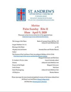 Palm Sunday Leaflet