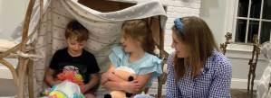 Kids Under Blanket Church