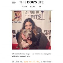 New piece in This Dog's Life on NEW YORK Stand Up For Pits!
