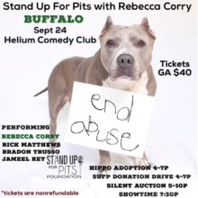 BUFFALO Stand Up For Pits is Sept 24th!!!