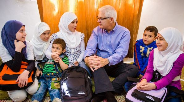 Syrian refugee children living in Jordan share their hopes and dreams with Rich Stearns, World Vision president.