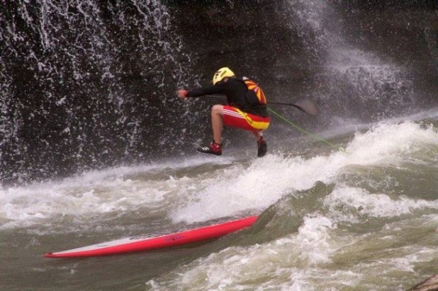 whitewater stand up paddleboarding