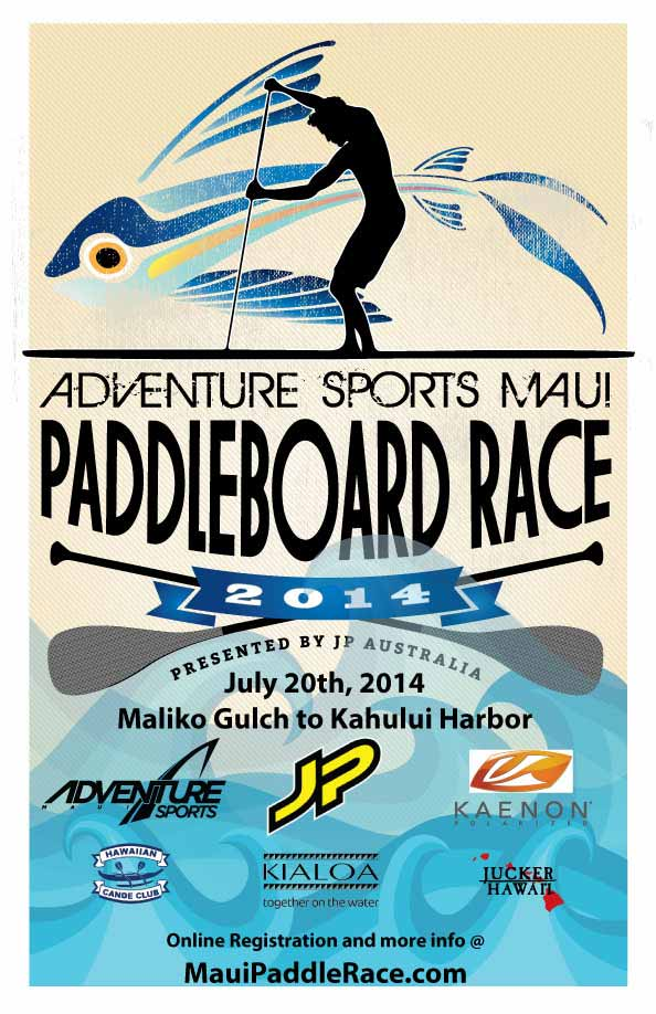 Adventure Sports Maui Paddle Board Race 2014