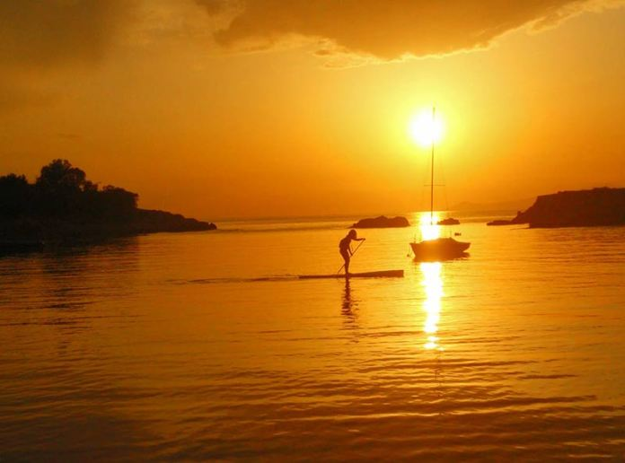 Nikos Karousis: End of the day glide into the sunset on the coast of Vouliagmeni in Athens,local spot and favorite place to be!