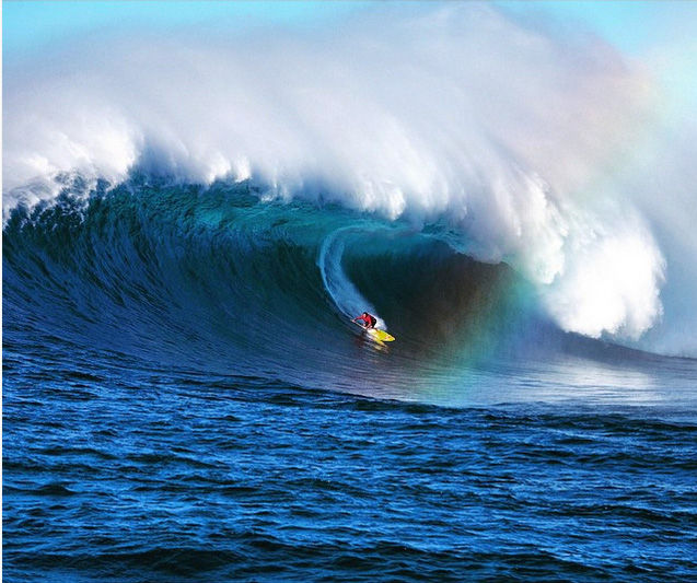 @fred_pompermayer: Extreme standup paddle at Jaws, @kai_lenny has one of the most diverse quivers in the world, and he knows how to use it.