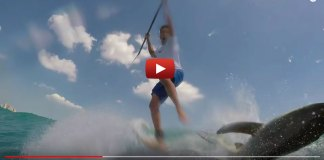 Maximo Trinidad Get's Knocked Off Sup By Spinner Shark