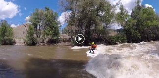 Werner Paddles River SUP With 14-year-old Miles Harvey Killing It!