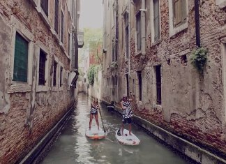 paddling along the Grand Canal