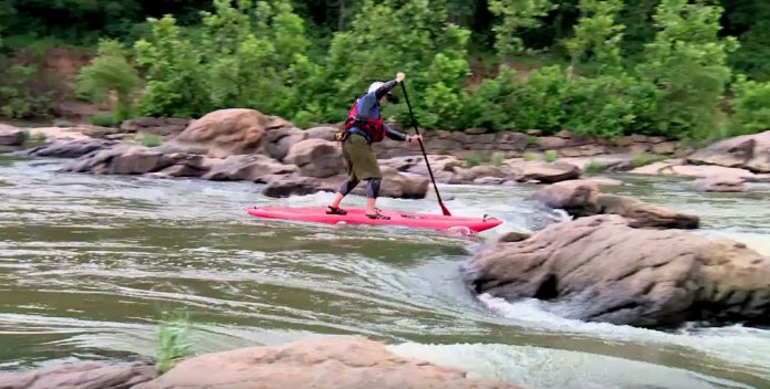 safety equipment for whitewater stand up paddleboarding